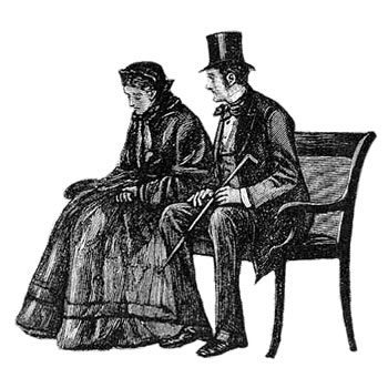 Image of Estella and Pip in later life, reflecting on their friendship.